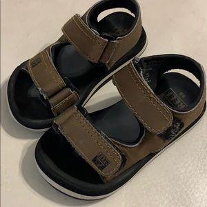 Brown, Reef brand sandals size 5/6